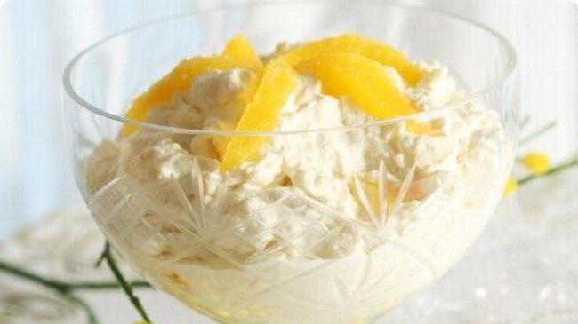 Orange rice pudding - an old school Norwegian dessert. Maybe replace half of cream w/ greek yogurt.