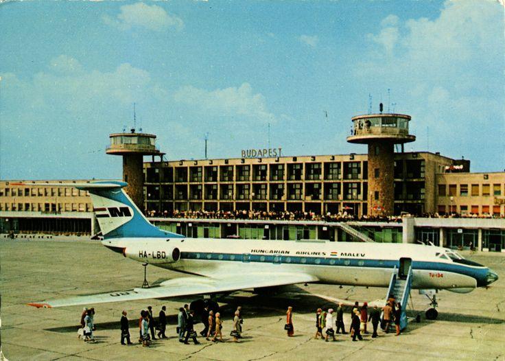 Magyarország, Ferihegyi Repülõtér, TUPOLEV TU-134, 1971