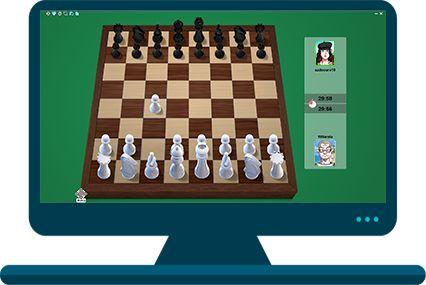 Tela Jogo Xadrez Online no MegaJogos