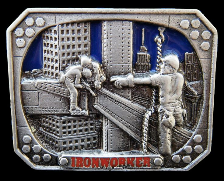 IRONWORKER IRON METAL STEEL WORKER TOOLS EQUIPMENT OCCUPATIONS JOBS BELT BUCKLES #iron #ironworker #metal #metalworker #sheetmetalworker #construction #constructionbeltbuckle #occupation #beltbuckle #buckles #coolbuckles