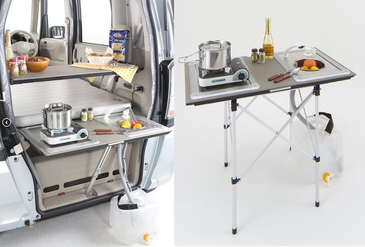 N-BOX+キャンパーNEOの取り外せるギャレー。よく出来てる。 http://www.whitehouse.co.jp/camper/compact/kei/neo/
