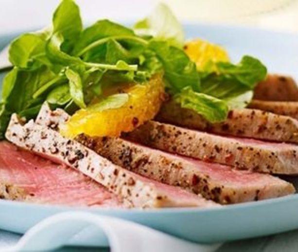 Orange, Watercress & Tuna Salad | Low Carb & Low Calorie Savory | Pin...