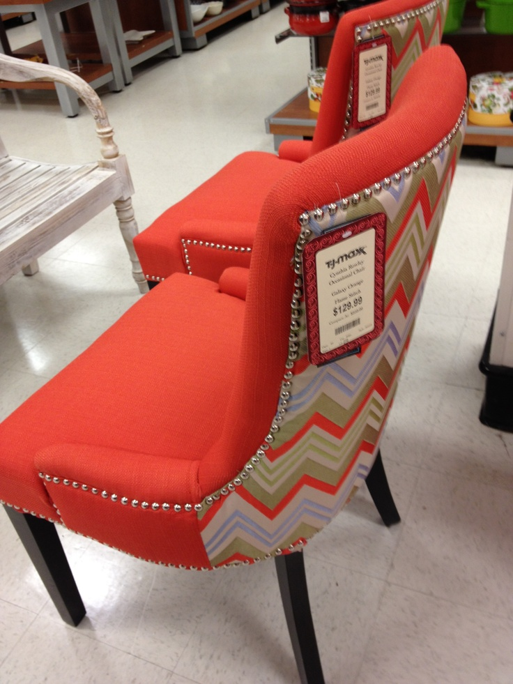 Coral Chair With Blue Accents Tj Maxx Dwell Accent