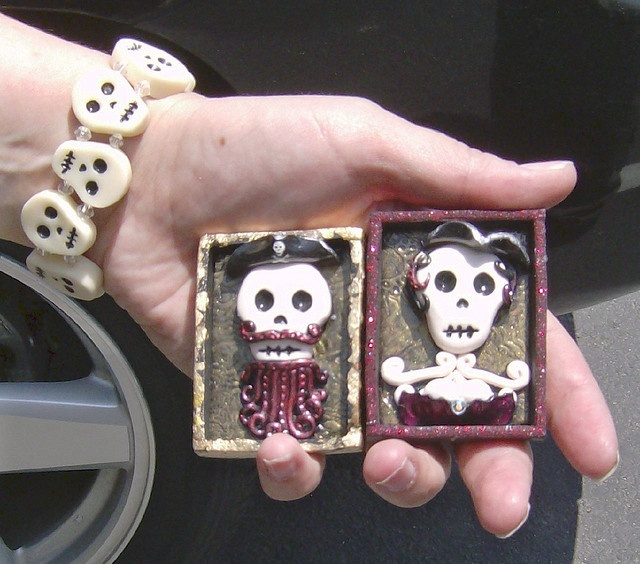 Day of the Dead Art by jillieofthevalley, via Flickr