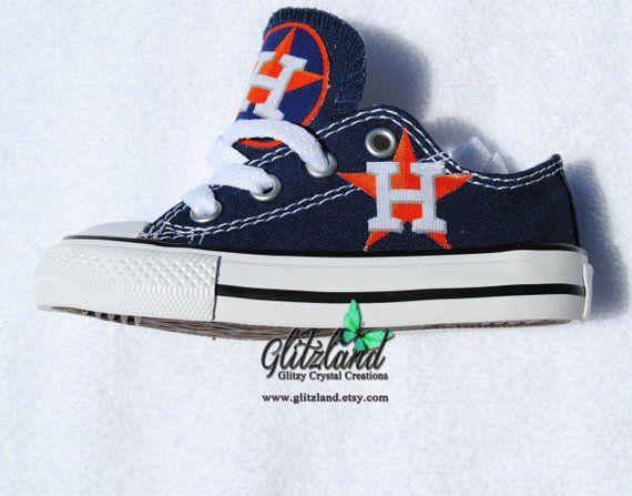 623b58c3aac5c CONVERSE Navy Youth Chuck Taylor Lo Top With Houston Astros Logo ...