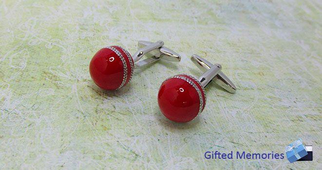 Mens Cufflinks - Cricket.  Find it at www.giftedmemoriesjewellery.com.au