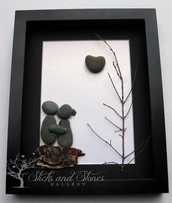Unique Couple's Gift  Original Engagement Gift  by SticksnStone, $80.00
