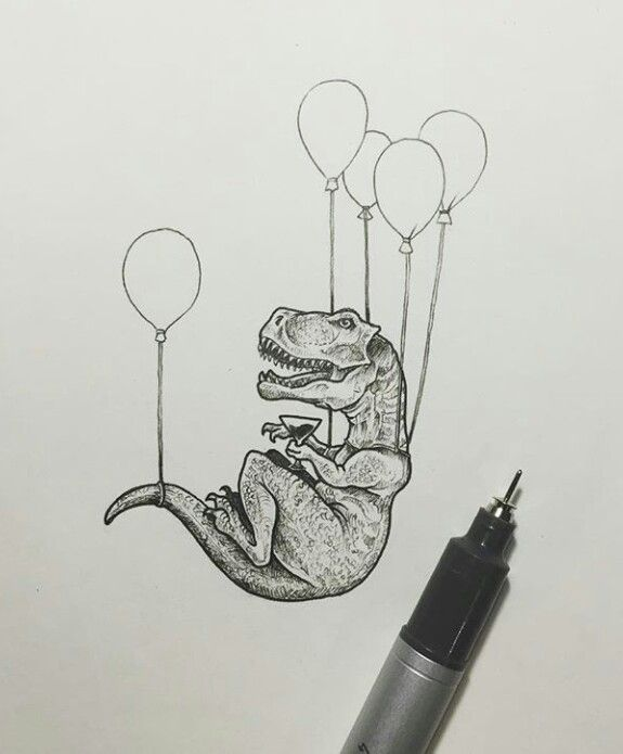 Love it #dkw #dinosaur maybe a super cute tattoo  Made by Kerby Rosanes