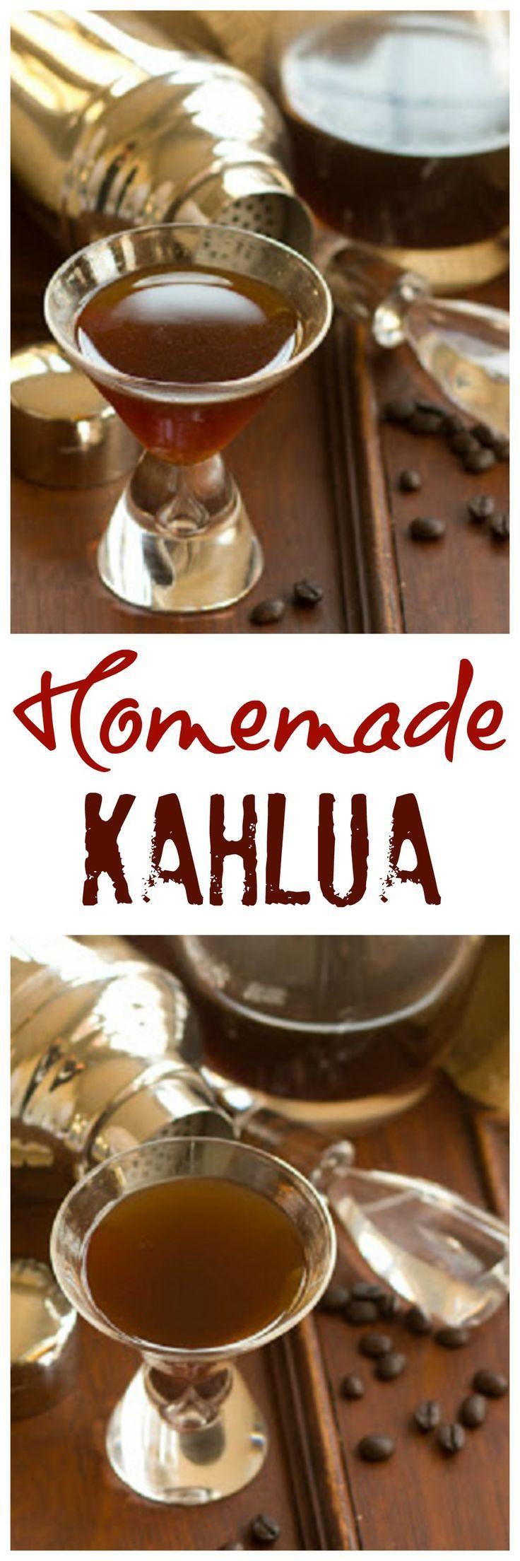 Homemade Kahlua   Make a copycat Kahlua recipe at home!!! /lizzydo/