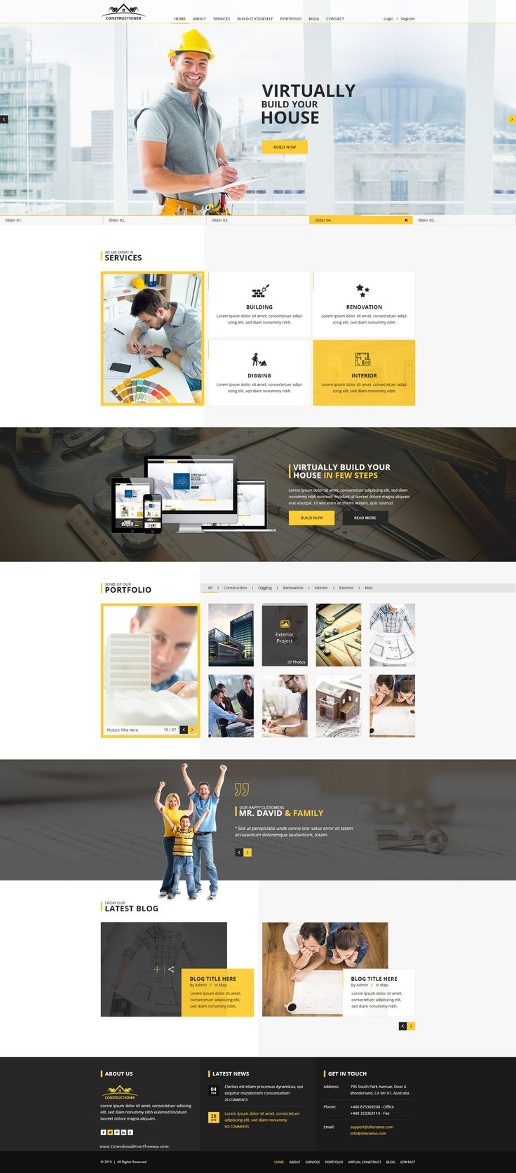 Constructioner is a modern, unique and clean design #PSD template introducing a powerful idea. #website