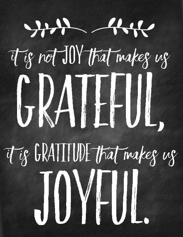 Sweet Blessings: Grateful & Joyful FREE Printable