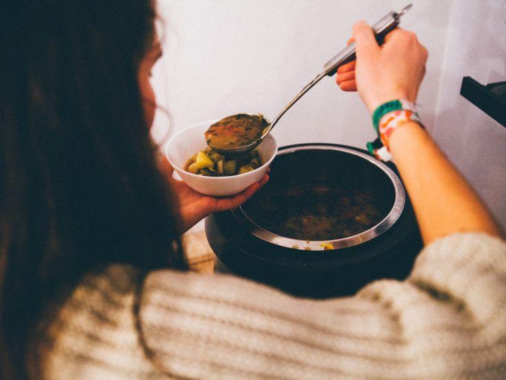 Zeleninový guľáš s hlivou / Vegetable soup with Oyster  photocredits: https://www.facebook.com/ProSessionCommunity