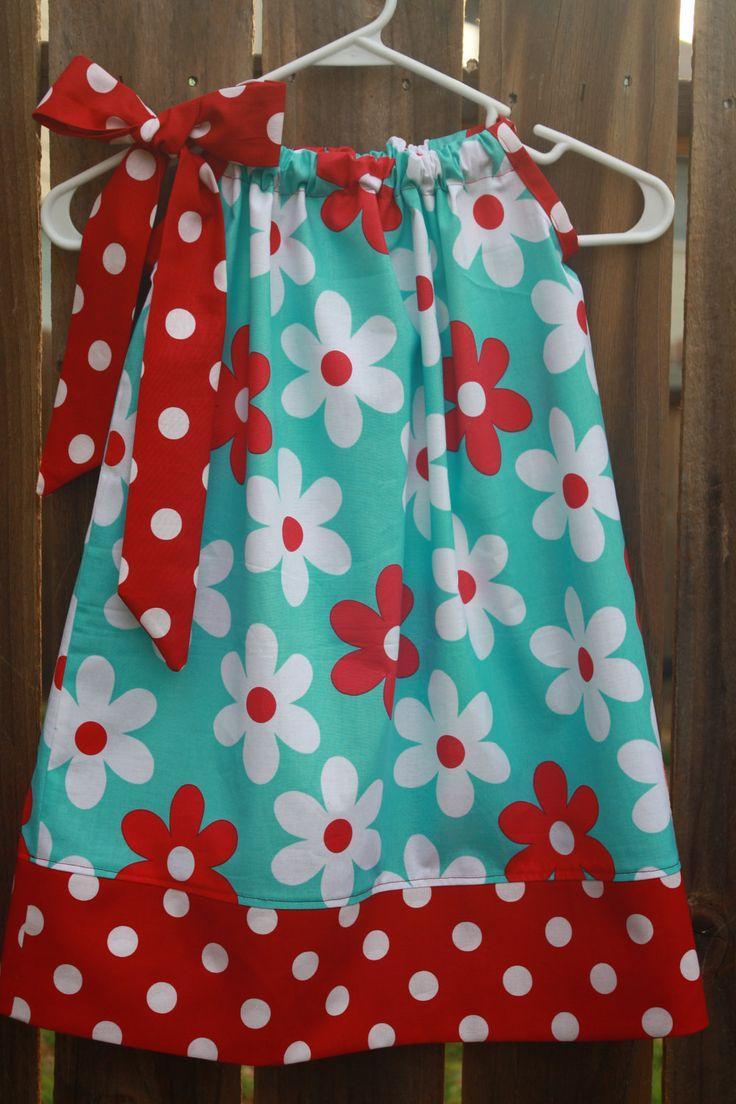 Girls Plain Jane Pillowcase Dress Size 012 by hotwheelsfairytales
