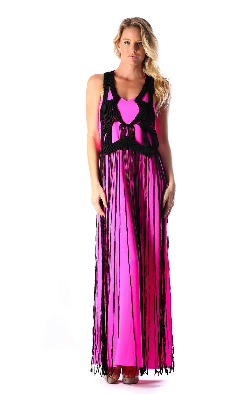 WHITE XARA FRINGE DRESS - PINK  http://runwaydream.com.au/black-xara-fringe-dress-pink-ixiah?options=cart Retail: $549.95 Hire:  $129