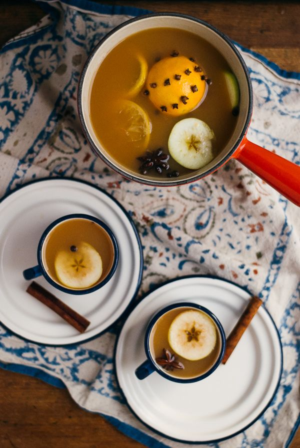 spiced apple cider with bourbon.