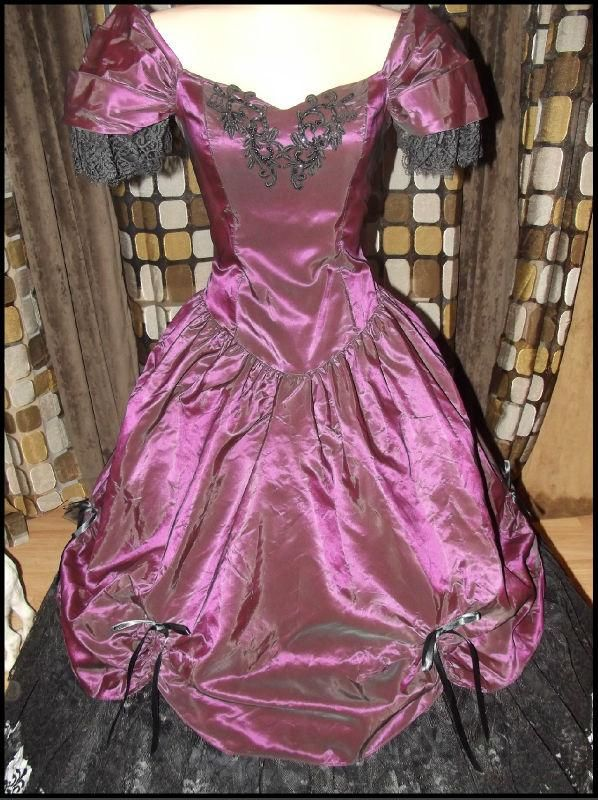Vintage 80s VICTORIAN Southern Belle Ball Gown Dress ...
