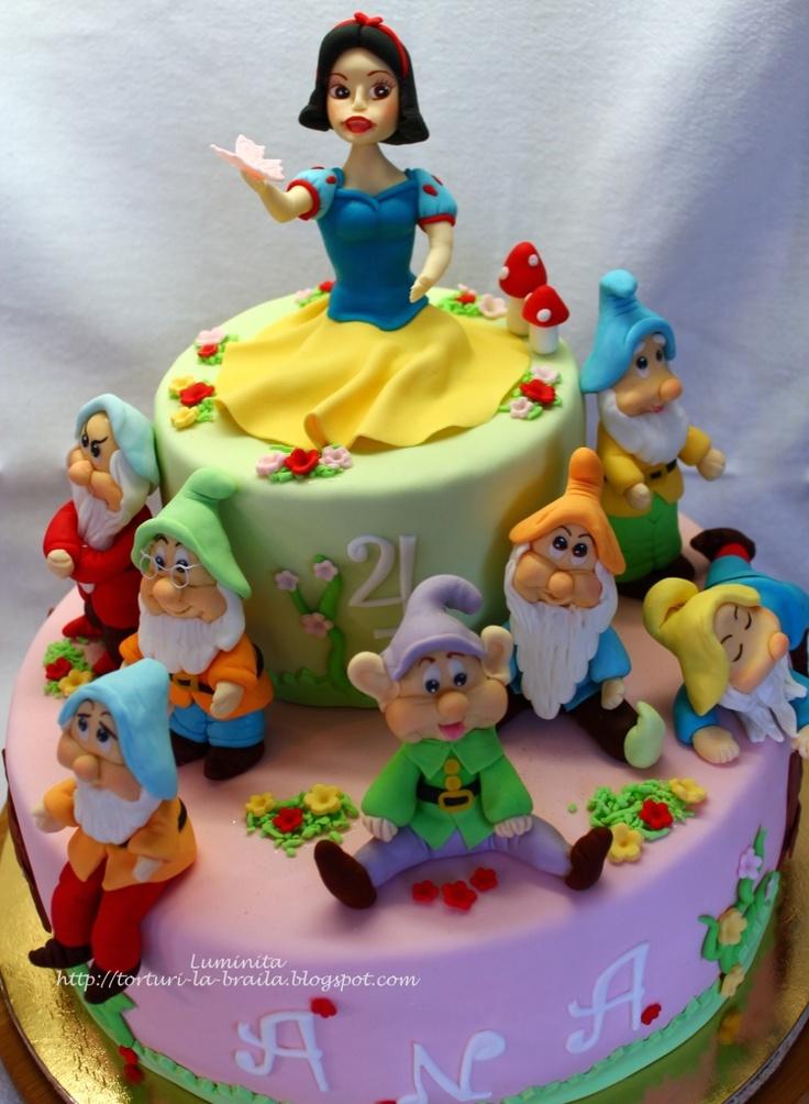 Snow Birthday Cake Images