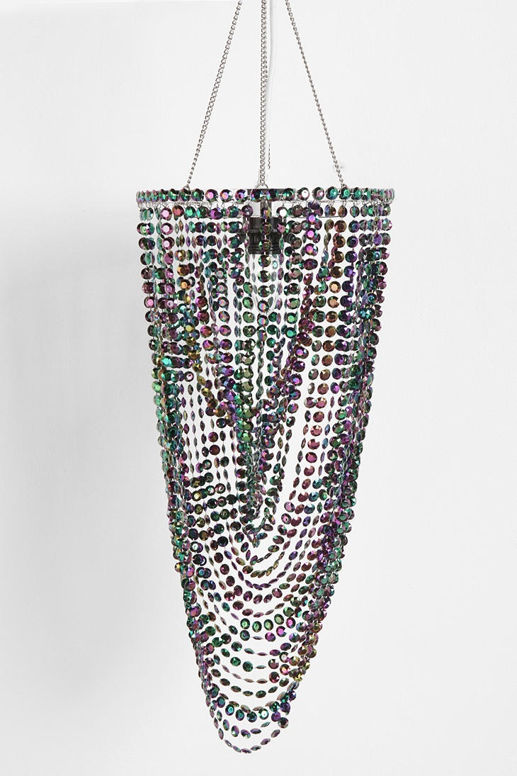 Just got the Peacock Drape Faux Chandelier for my new room!! #UrbanOutfitters