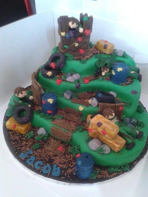 Paintball cake