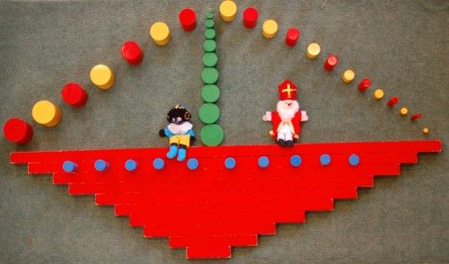 Rode stokken stoomboot - MontessoriNet