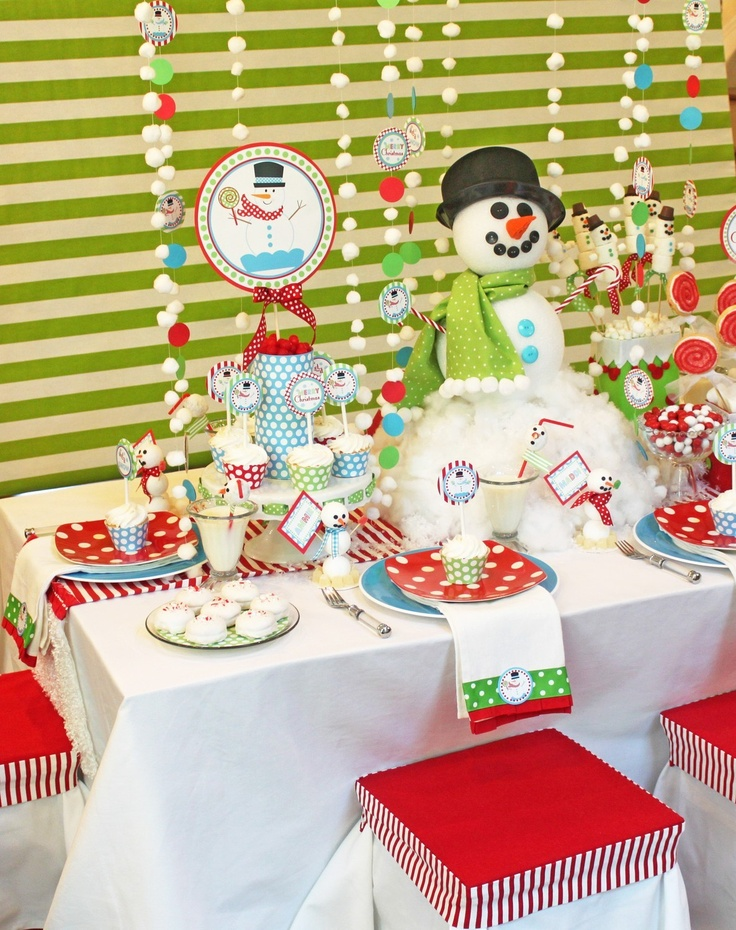 Fun Christmas Party Ideas For Kids Part - 46: Winter ONEderland Decorations | Winter Onederland Birthday Party | Snowman  Party Printable | Snowman Decorations | Amandau0027s Parties To Go