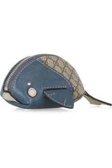 Gucci Moby Dick Coin Purse. @Mandi Hoskins would totally make a non gucci version of this...