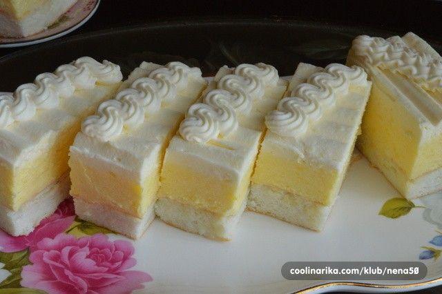 Krémové luxusní vanilkové řezy