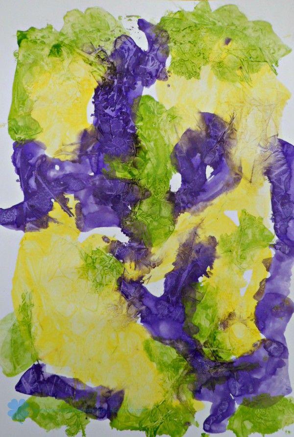 art paper with crushing effect, fun art for kids, PAPIER ARTYSTYCZNY Z EFEKTEM ZGNIECENIA