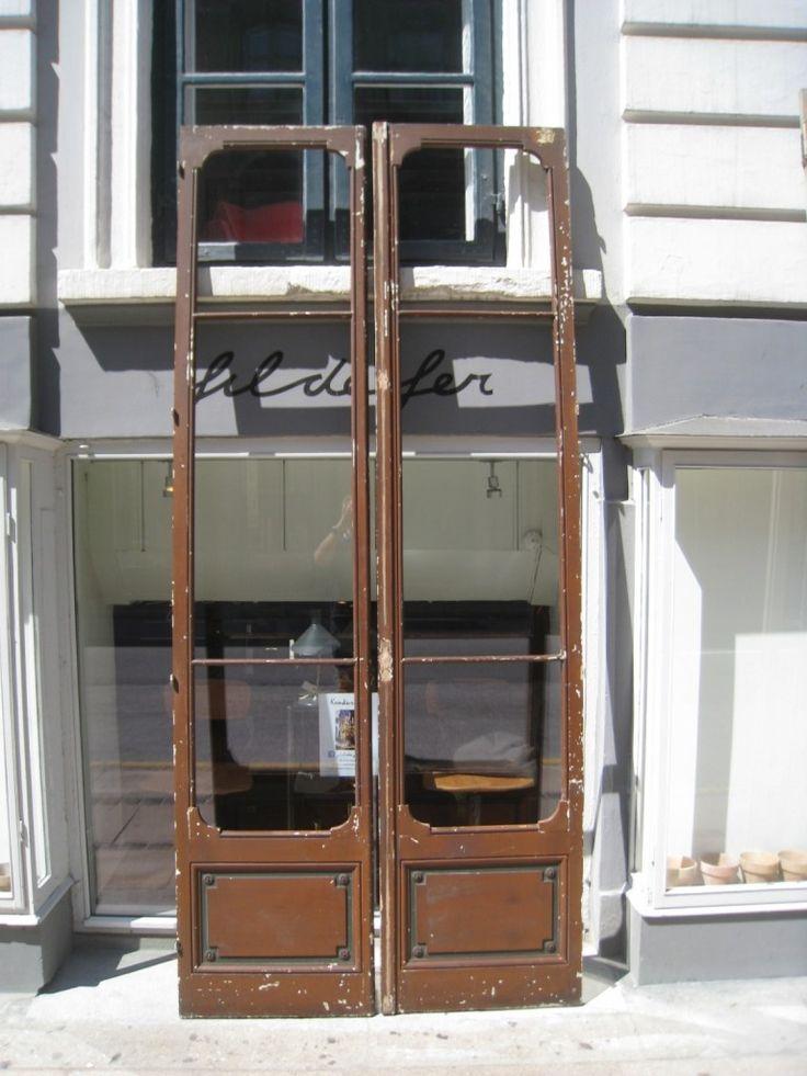 1 par døre uden glas