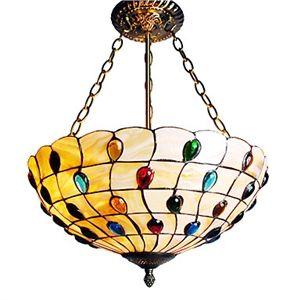 Tiffany Deckenleuchten mit 3 Lampen in künstlerische Muster