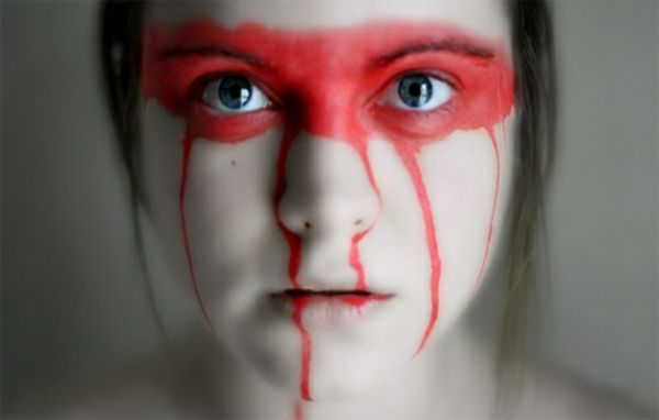 Horror Gesicht Schminken für Halloween  -