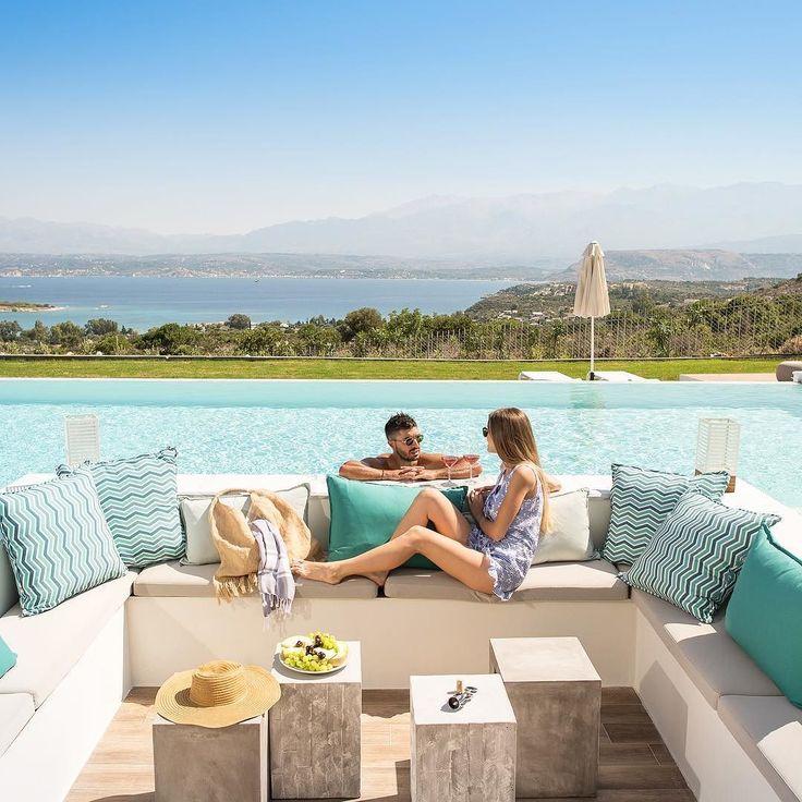 #villaalas #luxuryvilla #chania #villasingreece #builtinsofa #pool