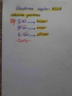 Üleştirme sayılarının yazılışı