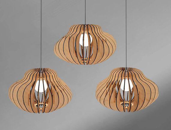 Pendant lamp. Plywood by WanderWoodUa on Etsy