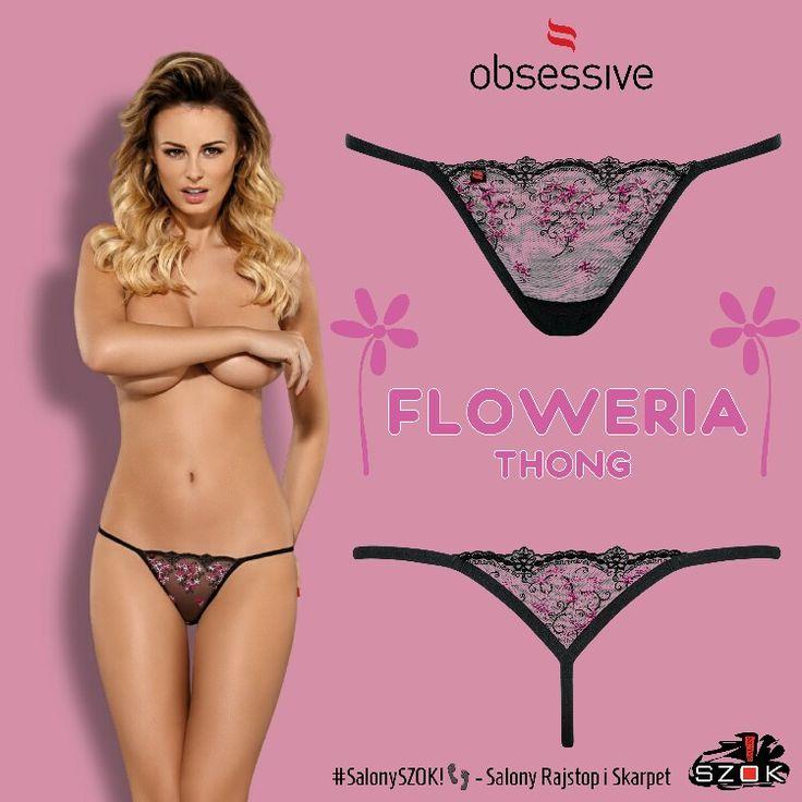 🔴 #Niewielkie, a tak bardzo #kuszące! Spójrz na #obłędne #stringi #Floweria firmy #Obsessive. #Podgrzewanie #atmosfery to ich specjalność! Dostępne w Naszych #SalonySZOK!👣💯♨