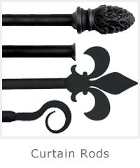 Buy Wrought Iron Curtain Rods Online | Iron Curtain Rods | TWI