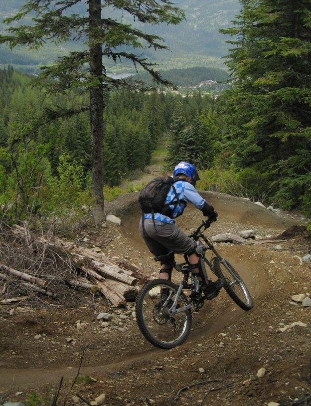 Whistler BC Canada. Downhill Mountain bike Park . http://WhatIsTheBestMountainBike.com