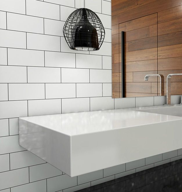 Clearance Metro Subway Tile – White Matte 4″ x 12″ Ceramic Wall Tile $3.97 per square foot