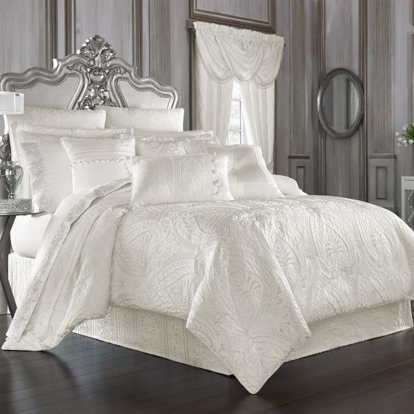 Bianco Queen 4 Piece Comforter Set Bed Linens Luxury Luxury