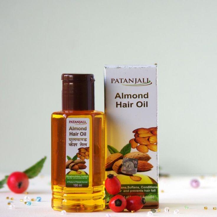 Indyjski olejek migdałowy do pielęgnacji włosów Patanjali - Rani-art
