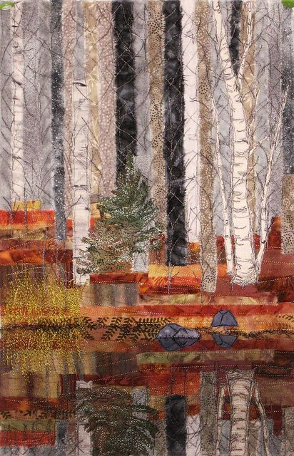 birch quilt Shared by www.nwquiltingexpo.com @NWQuilting Expo #nwqe #quilting