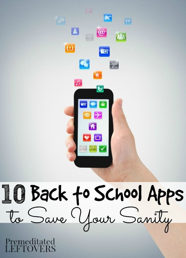 10 Back to School Apps to Save Your Sanity - Here are 10 back to school apps for homework planning, graphing calculators, research projects, and more. back to school tips