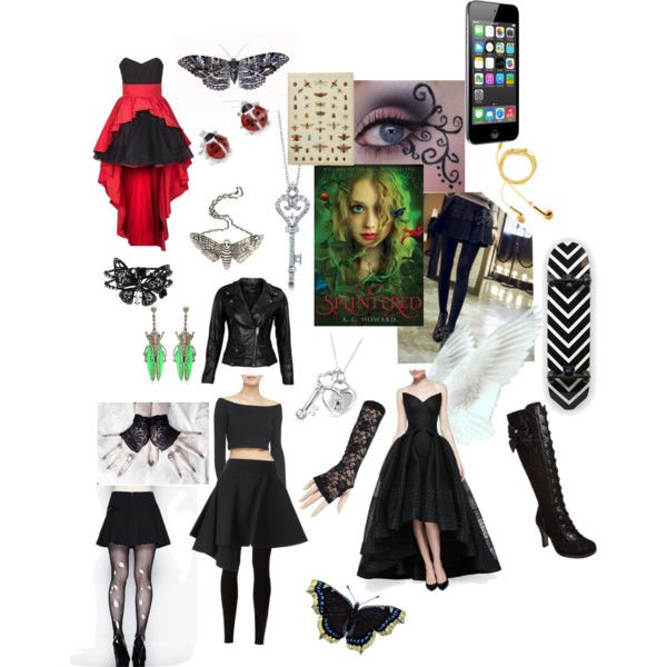 Alyssa Gardner from Splintered by AG Howard by read-read-read on Polyvore featuring Zac Posen, Swing, Torn by Ronny Kobo, VIPARO, Hell Bunny, yozi, FAUSTO PUGLISI, Rick Owens Lilies, Demonia and Betsey Johnson