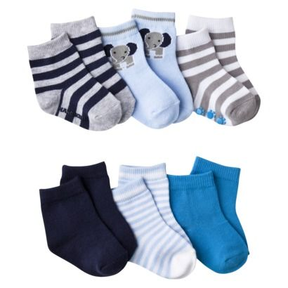 Fashionable and cozy, the Hudson Baby 8-Pack Aztec Terry Rolled Cuff Socks keep your baby's feet warm and comfortable. The adorable socks stay on with a rolled cuff style and feature a gentle, stretch design perfect for your growing baby.