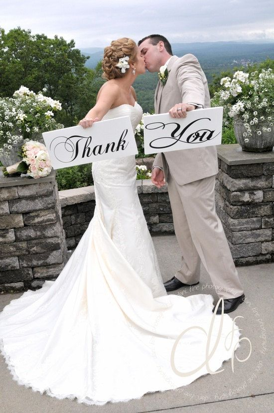 Thank You Wedding Signs for your Thank You by OurHobbyToYourHome, $50.95
