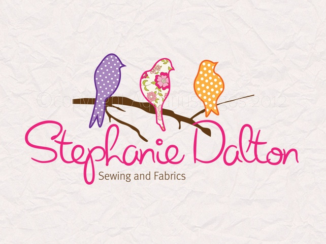 Custom premade photography logo sewing fabric craft logo design.  £15.00
