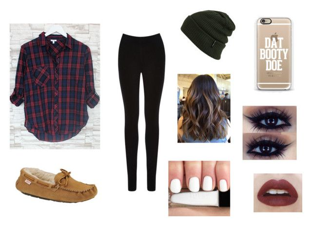 """""""Fall outift"""" by ashley-martel ❤ liked on Polyvore featuring Oasis, Slippers International, Billabong and Casetify"""