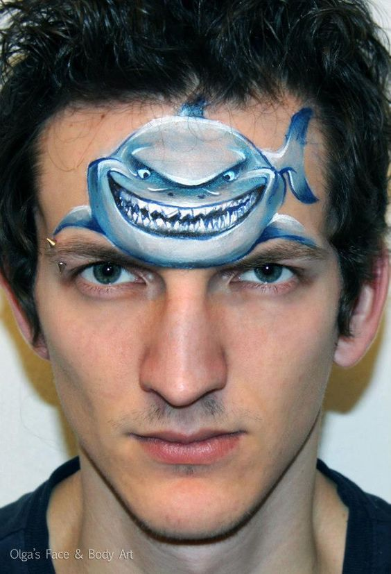 Shark Painting Hire A Facepainter To Transform Your Guests Into Movie Characters
