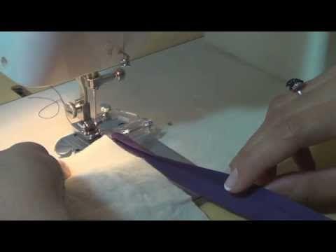 Como costurar viés com aparelho para viés. - YouTube