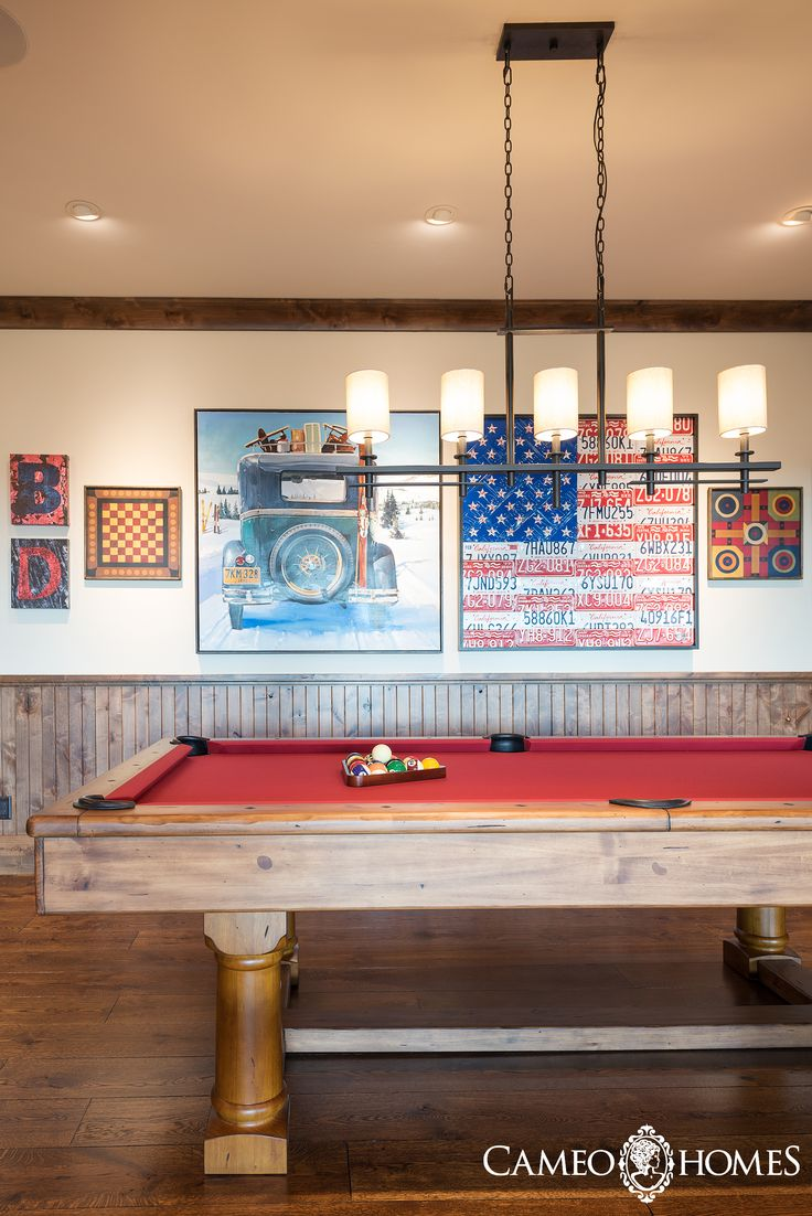 Pool Table In This Beautiful Recreation Room Park City Utah Home